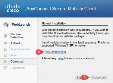 Win 64-bit Cisco AnyConnect Client - Intranet - University