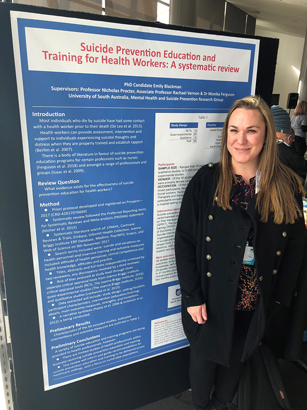 Emily Blackman with NSPC 2018 Poster