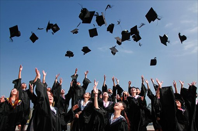 Photo of graduates celebrating