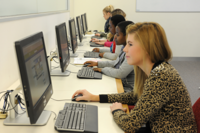 Photo of students using PCs