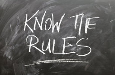 Photo of 'Know the Rules' written on a blackboard