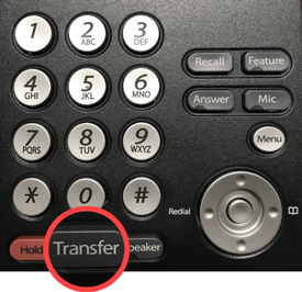 Photo of Transfer button
